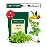 VAHDAM, Matcha-Grüntee-Sampler - 5 Tees | 100% reines japanisches Ursprungs-Matcha-Teepulver | 137x...