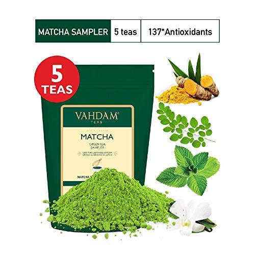 VAHDAM, Muestreador Té Verde Matcha - 5 tés   Polvo