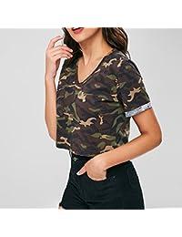 Amazon Ropa Mujer es Mujer Camisa Camuflaje 4rZw4g