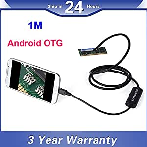 IDLB 1M Android OTG Micro USB Endoscope Tube 7mm Etanche Objectif inspection à l'endoscope caméra pour Samsung Galaxy Note 4 3 2 S6 S5 S4