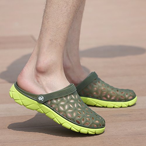 Xing Lin Beach Flip Flop Estate Uomini Foro Pantofole Scarpe Scarpe Da Spiaggia Alla Moda Di Metà Femmina Pantofole Coppie Di Grandi Dimensioni Sandali 235 Army Green new