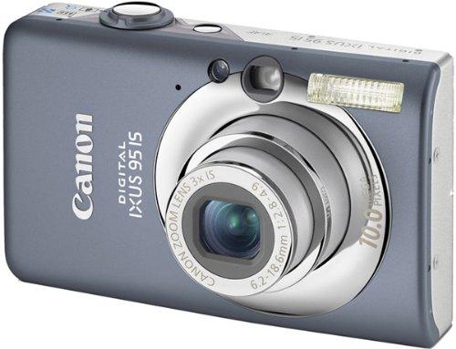 Canon Digital IXUS 95 IS Digitalkamera (10 MP, 3-fach opt. Zoom, 6,4cm (2,5 Zoll) Display, Bildstabilisator) Grey