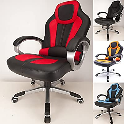 RayGar 2016 Deluxe Padded Sports Racing Chair Gaming Executive Swivel Computer Desk Recliner Office Chair - New - inexpensive UK light shop.