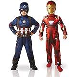 Pack disfraces Iron Man y Capitán América niño - Civil War