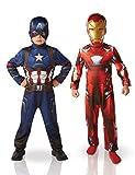 Rubie's-déguisement officiel - Marvel- Bi Pack Iron Man/Captain America Civil War - Taille L- I-620775L