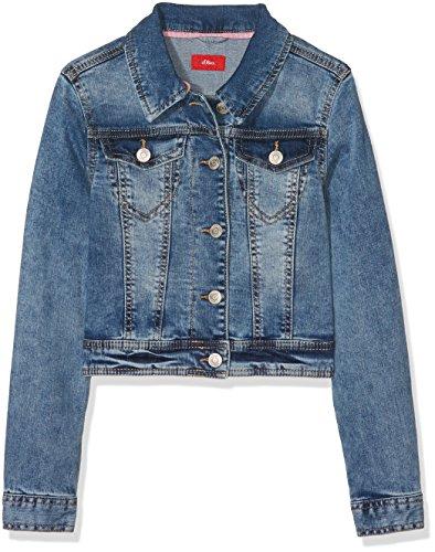 s.Oliver Mädchen 73.803.51.4318 Jacke, per Pack Blau (Blue Denim Stretch 55Z7), 176 (Herstellergröße: XL) Junior Fashion Denim Jacke