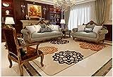 flashing- European minimalistisch moderne Wohnzimmer Couchtisch rechteckig maschinenwaschbar Stoff Sofa Schlafzimmerteppich Rosen ( größe : 2000mm*2400mm )