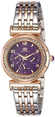 Gio Collection Analog Purple Dial Women's Watch-G2021-88 image