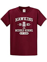 Star and Stripes Inspired hawkin Middle School Stranger 1983 Things T Shirt Funny Slogan Printed T Shirt
