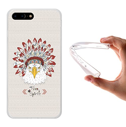 iPhone 7 Plus Hülle, WoowCase Handyhülle Silikon für [ iPhone 7 Plus ] Keep Calm and Be a Princess Handytasche Handy Cover Case Schutzhülle Flexible TPU - Transparent Housse Gel iPhone 7 Plus Transparent D0319