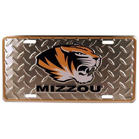 NCAA Missouri Tigers Diamond Plate Car Tag