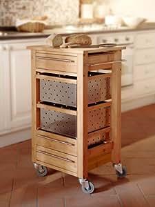 Brandani carrello legno di bambu e inox cucina 58594 for Amazon cucina