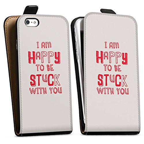 Apple iPhone X Silikon Hülle Case Schutzhülle Sprüche Liebe Freundschaft Downflip Tasche schwarz