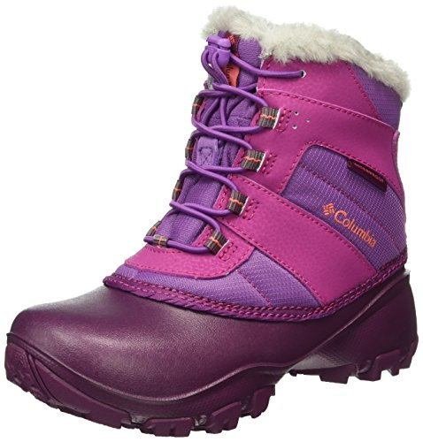 Columbia Mädchen Youth Rope Tow Iii Waterproof Schneestiefel, Pink (Northern Lights/Melonade), 32 EU