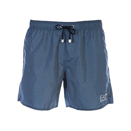 EA7 Men's Sea World Printed Swim Shorts, Blue