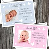 10 Personalised Baby Photo Thank You/Announcement/Christening Cards. Boy/Girl FREE DELIVERY (SBD 44)