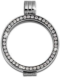 Adamello coin versión 25 mm acero inoxidable-colgantes circonita acero joyas ESC053W