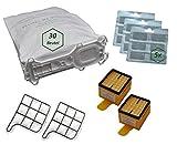 64pezzi set adatto per Vorwerk Folletto Kobold 135/136/135sc/VK135/VK136/135sc 30sacchetto 30Profumo Block 2Filtro Igiene 2Filtro di protezione motore