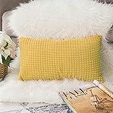 MIULEE Juego de 2 Suave gránulos Decorativo Cuadrado Funda de Almohada cojín para sofá Dormitorio Coche