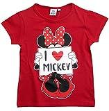 Minnie Mouse T-Shirt Kollektion 2018 Shirt 92 98 104 110 116 122 128 Mädchen Kurzarmshirt Maus Rot (Rot, 98-104)