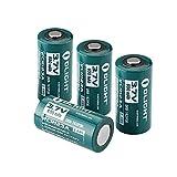 OLIGHT 16340 RCR123A Akkus Lithium-ion wiederaufladbar Batterie 3.7V 650mAh - 4-er Pack (original und geschützt)