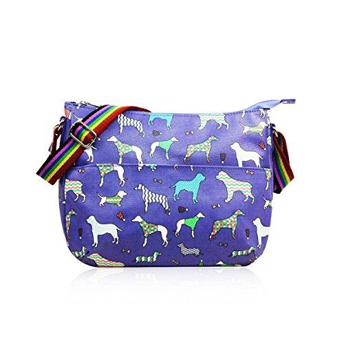 HB Style, Borsa bowling donna Multicolore Multicoloured Purple