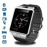 CHEREEKI Smartwatch Armbanduhr Handy-Uhr Bluetooth Smart Watch Uhr mit Kamera Schrittzähler Unterstützungs TF/SIM Karte für Android Samsung Huawei HTC LG Sony Motorola Alcatel