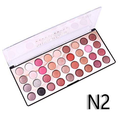Beisoug Miss Rose 36 Coloré Coloré 3D Pagaie Étanche Ombre à Paupières Perle Mat