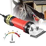 LIUJIE 690W Professionelles elektrisches Pferdeschermaschinen-Pflegemaschinen-Set, Elektrischer Hochleistungs-Haarschneider für Hunde mit dicken Mänteln, Pferde, Pferde, Rinder