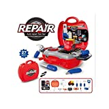 #10: Mini Suitcase Auto Repair Tool Toy Set for Kids - 27PCS