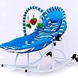 GZ Lettino per Neonato Lettino Multifunzione per Bambino Elettrico a Vibrazione Comfort da 0-3 Anni,Blu,1