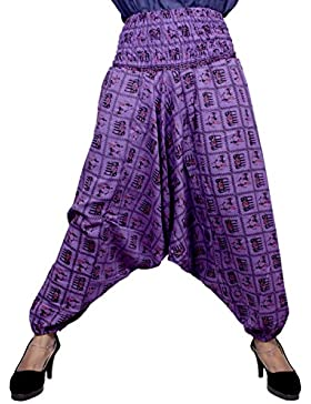 Algodón Elefante Genie harén pantalones Beggy Gypsy pantalones Yoga tamaño libre