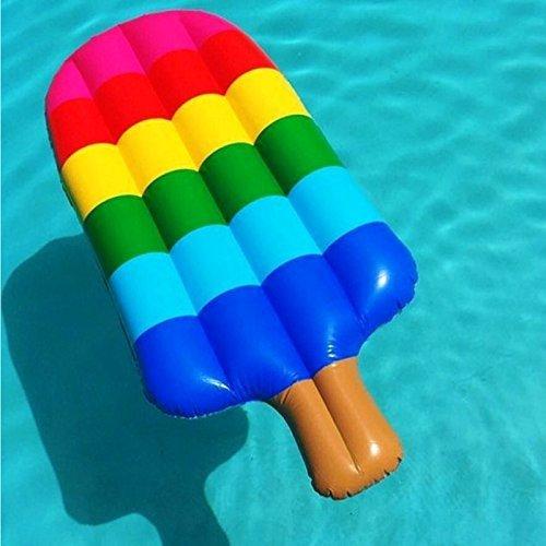 anmas Home Kinder Erwachsene Jugendliche Float Vollieger Backyard Fun Play Center Popsicle Lounge Wasserrutsche aufblasbar h2whao Summer Outdoor Pool Fun Schwimmen, Style1 -Ice Cream