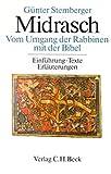 Midrasch Vom Umgang der Rabbiner mit der Bibel. Einführungen, Texte, Erläuterungen - Günter Stemberger