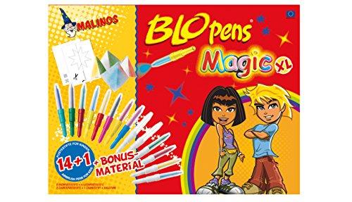 Malinos 300963 - Blopens Magic, Malset, XL 14 und 1 zuzüglich Bonusmaterial -