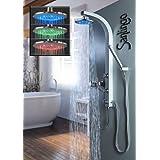 LED Colonne de douche buses de massage argent Sanlingo