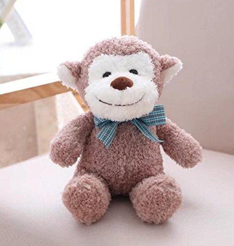 CICOCO Schöne Puppe Socken Stofftier AFFE Stofftier Stofftier AFFE Baby Plüschtier Geschenk für Neugeborene Kinder (Leichter Kaffee) (Socke Affe-baby-puppe)