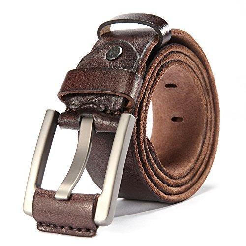 HYHZ 100% Full Grain Leather Belt Men