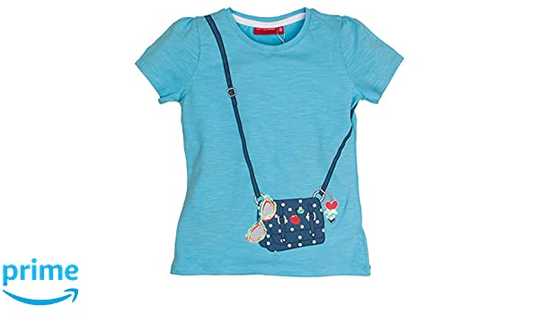 a84abab8e4281 Salt and Pepper Smile Print Tasche, T-Shirt Fille, Bleu (Fresh Blue 420),  92 cm (Taille Fabricant  92 98)  Amazon.fr  Vêtements et accessoires