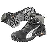 Puma Safety Shoes Cascades Mid S3 HRO SRC, Puma 630210-202 Unisex-Erwachsene Sicherheitsschuhe, Schwarz (schwarz/weiß 202), EU 43