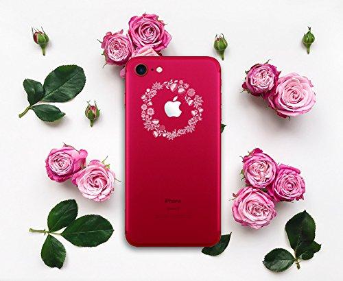 Coque iPhone 7 , Vanki® Absorption des chocs Ultra Mince TPU Silicone Bumper Protection Goutte,aux rayures pour iPhone 7-conception de guirlande 8