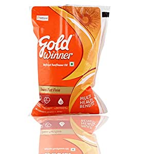 Gold Winner Refined Oil, Sunflower, 1L