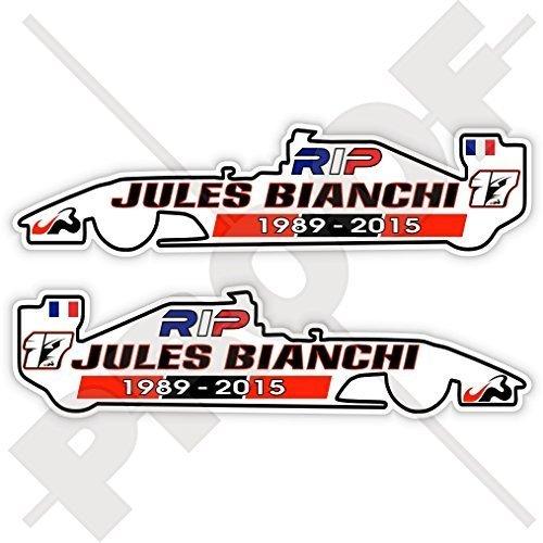 JULES BIANCHI RIP Formel 1 F1 Rennfahrer 100mm Auto & Motorrad Aufkleber, x2 Vinyl Stickers