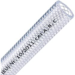 """FLEXTUBE TX Ø 10mm x 3mm (3/8"""") vendu au mètre, Qualité alimentaire, tuyau en PVC pour air comprimé, résistant à l'air, à l'eau, aux huiles conditionnelles et aux produits chimiques"""