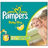 Pampers Baby Dry taille 6 + (16 + kg) Pack Essentiel Extra Large 6x27 plus par paquet