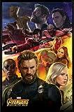 Los Vengadores Póster con Marco (Plástico) - Infinity War, Captain America (91 x 61cm)