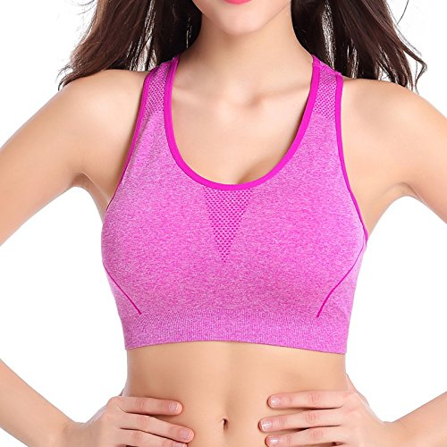 Yuver (TM) Femmes Sports Bra super stretch sans couture Yoga D¨¦bardeur Fitness M / L Lavande