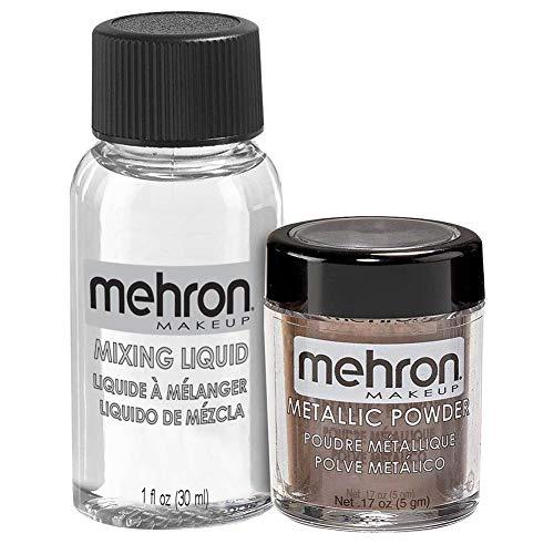 Mehron Metallic Powder mit Mixing Liquid Kit - Bronze