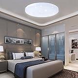 VINGO® 16W LED Starlight Effekt Deckenleuchte Schön Rund Korridor Deckenlampe Kaltweiß Wand-Deckenleuchte Badezimmer geeignet