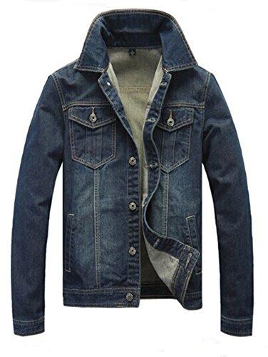 Hikenn Herren Jeansjacke Jacken Männer Kausal Hohe Qualität freien Plus Größe (XXL)